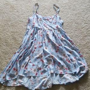 Torrid Hi Lo Light Blue Floral Dress